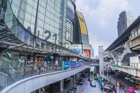 21: Bangkok, Thailand - October 21, 2015: Terminal 21 is a shopping mall that connects Bangkok Sky train and the Subway together