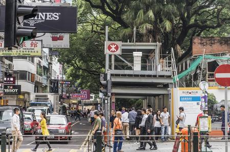 cater: Hong Kong, Hong Kong - October 23 2014: Tsim Sha Tsui is a major tourist hub in metropolitan Hong Kong, with many shops and restaurants that cater to tourists.