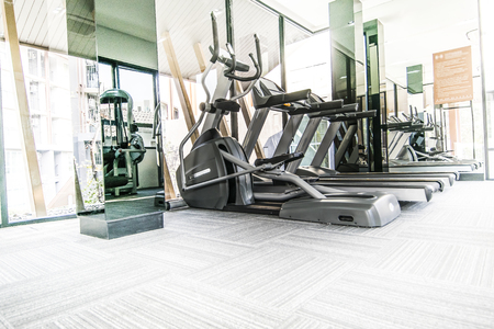 machines: Fitness machines in fitness room