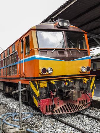 hua: Train at Bangkok railway station of Thailand