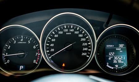 Close up of car dashboard Stockfoto