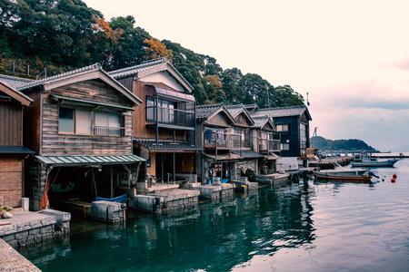Ine-cho and Funaya Houses in Kyoto of Japan