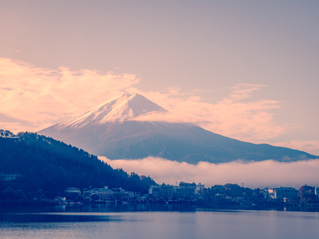 Mt.fuji in the morning from Kawakushi-ko Lake