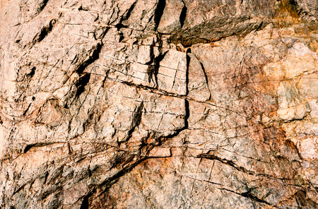 The old stone cave walls have traces through time.