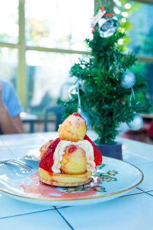 cake ball: Strawberry cake ball .