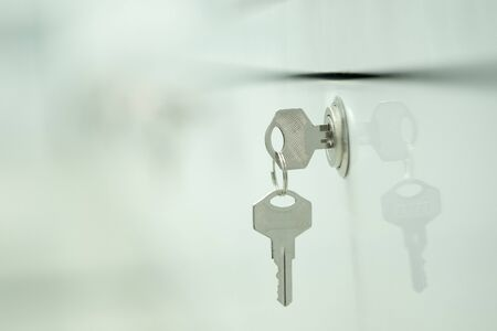 office cabinet: Soft focus Key cabinet locks