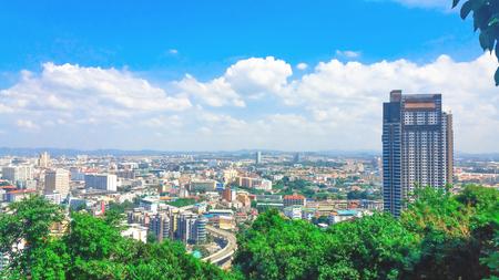 Pattaya City panorama View of building city skyline Daytime.