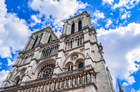 Cathedral of Notre dame de Paris, France.