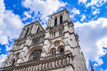 Kathedraal van Notre Dame de Paris, Frankrijk. Stockfoto