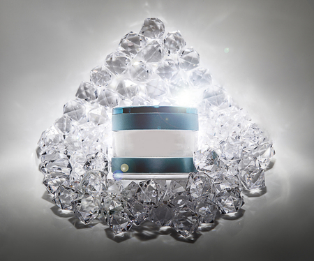 Elegant cosmetic jars product ads, skin care and beauty Moisturizing cream Luxury bright fresh on the diamonds background with light effect