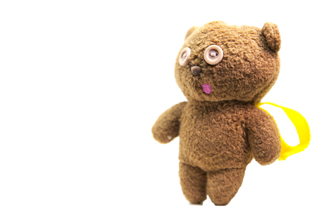 Teddy bears funny faces isolated on white background Zdjęcie Seryjne