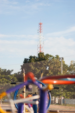 Telecom tower with the playground.