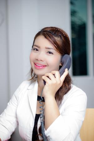 llamando: llamadas de negocios Foto de archivo