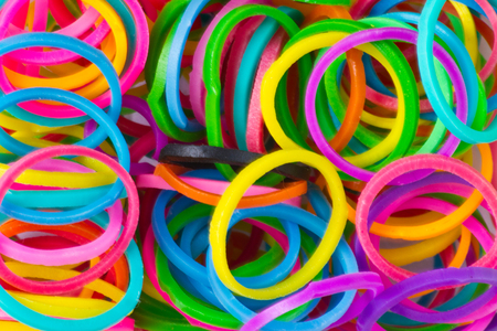 rainbow Colors,Blue Loom Refills Silicon Elastic Rubber Bands