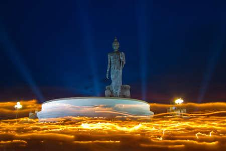 Makha Bucha Day at Buddhist park in Phutthamonthon district, Nakhon Pathom Province of Thailand photo