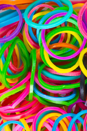 refills: rainbow Colors,Blue Loom Refills Silicon Elastic Rubber Bands
