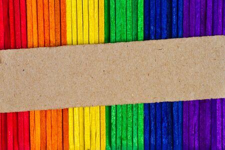 Color Ice lolly sticks, Ice cream sticks photo