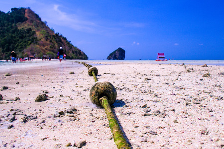 buoyancy: Buoyancy on the beach for area protection at Thale WaekSeparated Sea,Krabi province,THAILAND