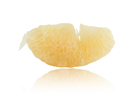 pummelo: Pomelo isolated on white background