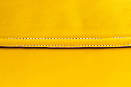 yellow Leather With Seam background