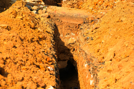 digging: digging ditches for drainage.