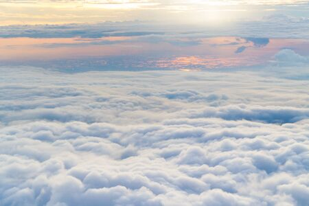 large formation: cloudscape. Blue sky and white cloud, a large cloud formation