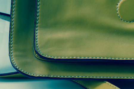 seam: Brown Leather With Seam background