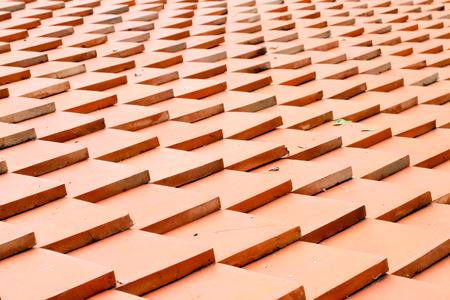 repetition row: roof tiles made of terracotta