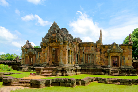 11th: prasat Muang Tam is a Khmer temple in Prakhon Chai district, Buri Ram Province, Thailand. It is primarily in the Khleang and Baphuon styles, which dates its primary phases of construction to the late 10th and early 11th centuries.