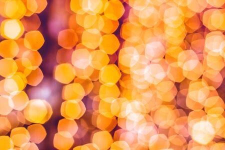 pentagonal bokeh defocused lights abstract background Stock Photo