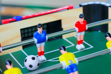 football table soccer, Table football game, Soccer table with red and yellow players.table football soccer game (kicker) Imagens