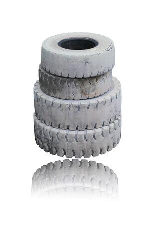 tire isolated on white background Stock Photo