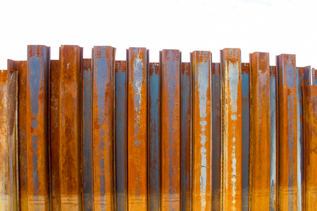 piling: sheet pile wall for steel retaining wall steel sheet pile installation work