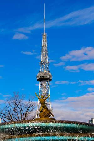 leading light: Nagoya, Japan - Dec 29, 2016 : Nagoya TV tower and Oasis 21 the city of Nagoya. Nagoya TV tower and Oasis 21 building known landmarks of Nagoya, Japan.