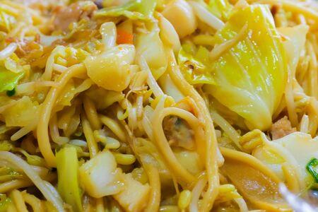 Yakisoba close up Stock Photo