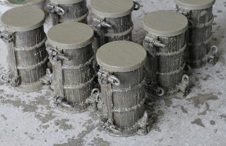 cylinder concrete specimens in mold for compressive strength test