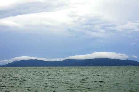 cloud and sky formation over the mountain,surat thani province,Thailand.