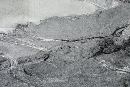 fly ash pattern during the raining and water flow