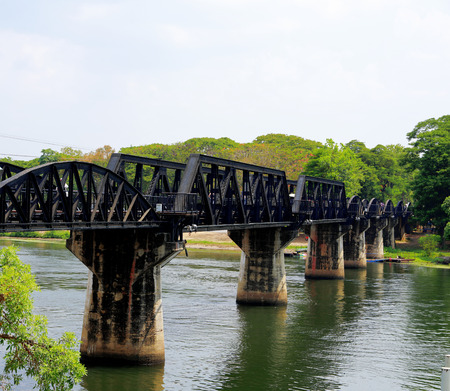 Bridge on the river kwai, Kanchanaburi province,Thailand.