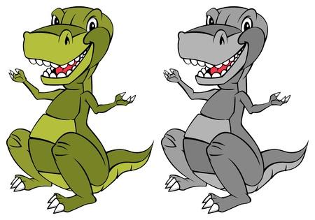stegosaurus: Esta es una ilustración de un dinosaurio mascota en color y BW Este es un color RGB modo de ilustración vectorial Vectores