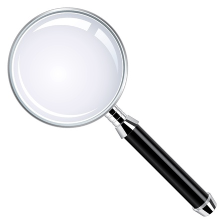 adobe: This is an illustration of realistic magnifying glass  This is a RGB color mode vector Illustration file created in Adobe Illustrator  Illustration