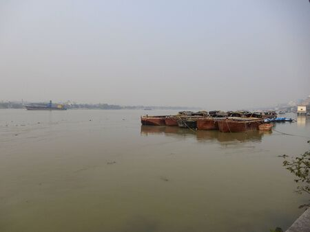 hooghly: Boat in river