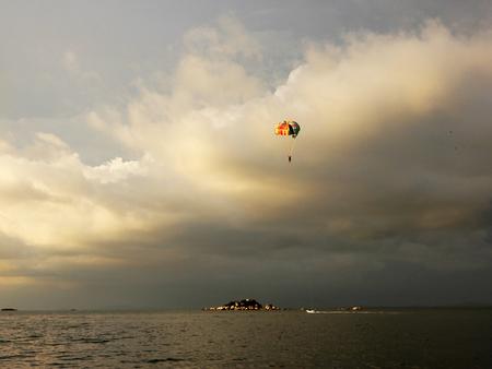 Para gliding Stock Photo