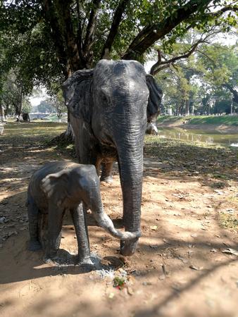 Elephant sculpture in Cambodia