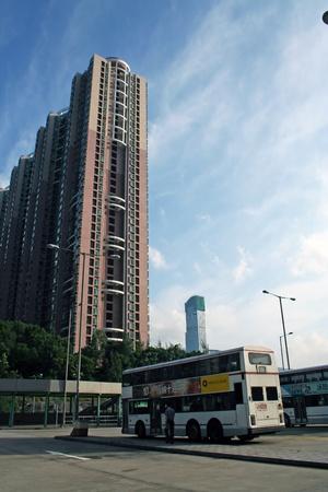 bus station: Tsing Yi Railway Station bus station, hongkong Editorial