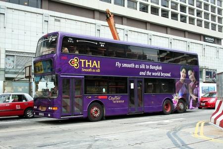 hongkong bus, transportation in hongkong Stock Photo - 13460624