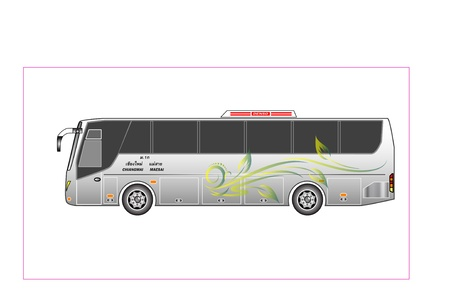 passenger: bus Illustration