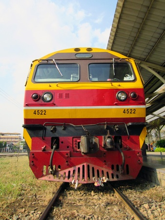 hitachi locomotive at chiangmai station