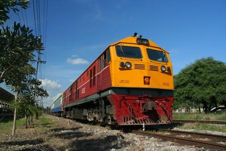 Ge locomotive, chiangmai train station Editorial