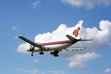 thaiairway airbus a300-600  hs-taa Banco de Imagens - 14962772